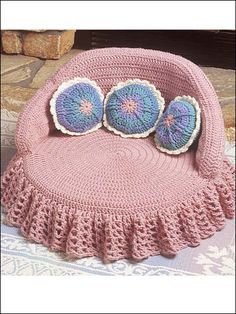 Crochet - Kitty Couches - Pink Bed
