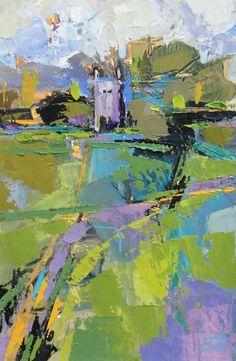 Church Path Oil on Board 38 x 26 cm#Art #Paintings #Landscape