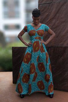Africaine Robe maxi par Gitas portail par Gitasportal2011 sur Etsy, £90.00