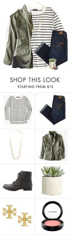 """""""my plans for the next week"""" by ellaswiftie13 ❤ liked on Polyvore featuring J.Crew, American Eagle Outfitters, Feather & Stone, Qupid, Allstate Floral, Tory Burch, MAC Cosmetics and Alex and Ani"""