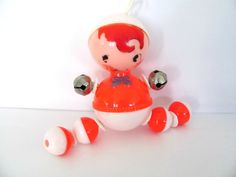 Vintage Baby Rattle 1960's Plastic Baby Toy by ThirstyOwlVintage, $15.50