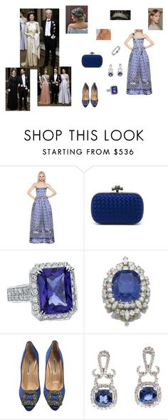 """""""Swedish Royal Family attends a gala dinner at Royal Palace"""" by princess-greta-of-sweden ❤ liked on Polyvore featuring Andrew Gn, Bottega Veneta, Van Cleef & Arpels, Manolo Blahnik, GALA, women's clothing, women's fashion, women, female and woman"""