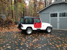 In the beginning.  New used hard top and full doors.    Drove four hours in the driving rain today to get these beautiful RED doors and hard top from a donor vehicle.   Fall is obviously in the air so this restoration will take about a year to complete.