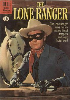 The Lone Ranger - Dell Comic Vintage Comic Books, Vintage Tv, Vintage Comics, Western Film, Western Art, Western Cowboy, Western Comics, Great Tv Shows, Old Tv Shows