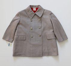 VINTAGE 50's / enfant / manteau léger / tissu par Prettytidyvintage