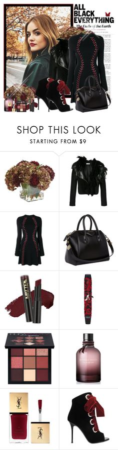 """Affordable Black"" by croatia ❤ liked on Polyvore featuring Ethan Allen, Lanvin, Alexander McQueen, Givenchy, L.A. Girl, Physicians Formula, Huda Beauty, Bottega Veneta, Giuseppe Zanotti and Baccarat"