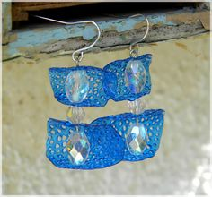 Plastic Bottle Earrings #recycle #upcycle #reuse
