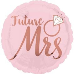 A gorgeous addition to your Bridal Shower or Bachelorette Party!  Blush pink Future Mrs foil balloon!...