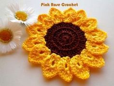 PINK ROSE CROCHET /: Girassol Pega Panelas Sunflower Pot Holders by maryann maltby
