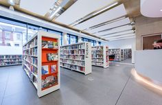 Love endcap displays! The Forum Southend main library | Demco Interiors - Inspiring Library Design