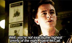 Deputy Parrish putting Agent McCall in his place