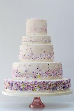 Rosalind Miller for Harrods - Monet's Garden wedding cake