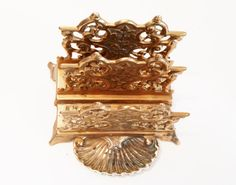 Your place to buy and sell all things handmade Art Nouveau, Shell, Letter Rack, Desk Tidy, Small Tray, Rococo Style, Solid Brass, Vintage Items, My Etsy Shop