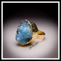 "Genuine Druzy Ring Statement Boho Cocktail ❗️❤️GIFT BOXED❤️❗️ New With Tags Attached Gorgeous Genuine Blue Turquoise Druzy Statement Cocktail Ring Boho * Plated brass setting; Adjustable, fits sizes 6-9  * 1"" L X 0.75"" W ring face * Nickel & lead free; Hammered band.  123900 * A natural genuine Druzy stone makes each ring unique & vary slightly in color, size, shape & texture.  No Trades ✅ Offers Considered*/Bundle Discounts✅ *Please use the 'offer' button to submit an offer. Jewelry Rings"