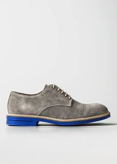 Contrast sole suede blucher - Men | H.E. BY MANGO