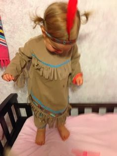 Toddler Indian Halloween costume Super cute and a little less common (: