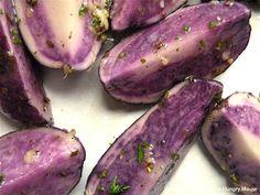 Roasted Blue Potatoes