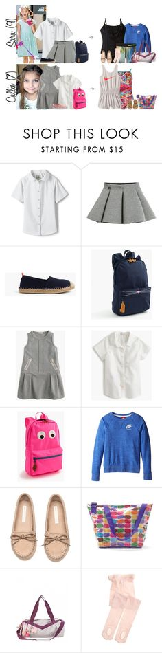 """""""Monday // School, Mohegan's Last Day, Working from Home & Out w/Parents // 6.5.17"""" by graywolf145 ❤ liked on Polyvore featuring Lands' End, Molo, J.Crew, NIKE, H&M, Iscream, Capezio and GrayWolfFamily"""