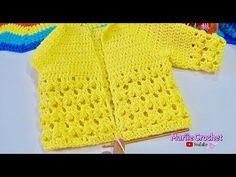 Chambrita para bebe tejida a crochet Punto Fantasia MUY FACIL! - YouTube Crochet Bebe, Crochet Top, Baby Dress, Crochet Dresses, Knitting, Tops, Girls, Youtube, Women
