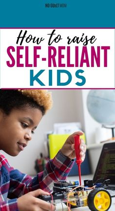As a parent, how to raise self-reliant kids is a hard question. We all want kids who take care of themselves and their families, but many families struggle with how to get there. These simple, yet far from easy, parenting tips are a great place to start. via @noguiltmom Hard Questions, This Or That Questions, Dealing With Frustration, Toddler Discipline, Kids Behavior, Happy Mom, Be A Nice Human, Learning To Be, Anger Management
