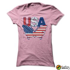 Patriotic USA American Flag Butterfly T-Shirts, Hoodies. VIEW DETAIL ==►…