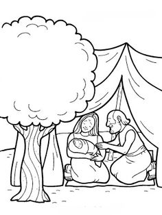 Printable bible coloring book pages for Sunday school