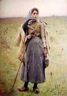 Charles Sprague Pierce (1851-1914). The Shepherd's Daughter