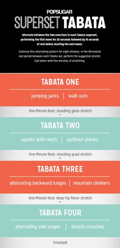 Use this tabata workout for trouble areas.