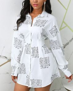 Vestido camisero con botones y aberturas Online. Discover hottest trend fashion at chicme.com Maxi Dress With Slit, Belted Shirt Dress, Trend Fashion, White Casual, Floral, Plus Size Dresses, Pattern Fashion, Women's Fashion Dresses, Sleeve Styles