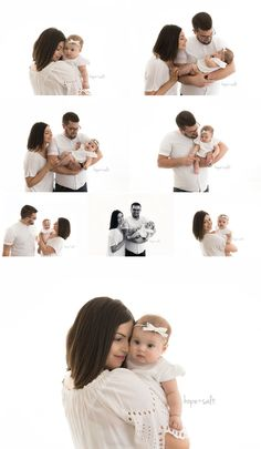 a studio session for five month old girl Lucia and family by Burlington baby Photographer Hope + Salt in a pure simple natural style 3 Month Old Baby Pictures, 6 Month Baby Picture Ideas, Family Photos With Baby, Newborn Pictures, Mother Baby Photography, Newborn Photography Poses, City Photography, Burlington Baby, 5 Month Old Baby