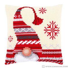 Cuscino Punto Croce Folletto di Natale  Vervaco  VE.0156877,