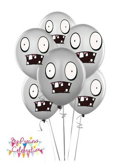 ZOMBIES BALLOONS-  Plants vs Zombies inspired birthday party decorations by PreciousCelebration on Etsy https://www.etsy.com/listing/203655492/zombies-balloons-plants-vs-zombies