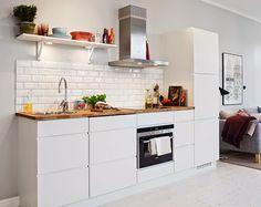 белая скандинавская кухня фото