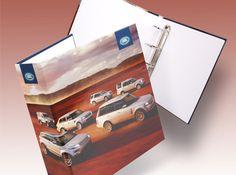 Land Rover Ring Binder - a creative packaging solution produced by Cedar Packaging Packaging Solutions, Ring Binder, Packaging Design Inspiration, Typography, Packing, Creative, Rings, Letterpress, Bag Packaging