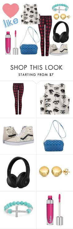 """""""El Outfit de hoy"""" by florchipaez ❤ liked on Polyvore featuring Dex, Chicnova Fashion, Vans, Goyard, Beats by Dr. Dre, Sevil Designs, Bling Jewelry, women's clothing, women and female"""
