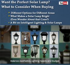 If you're thinking of getting one of our solar lamps (on sale now for 10% off with free shipping), here's a video about things to consider so you find the perfect solar lamp for your property: residential, commercial and even public spaces.