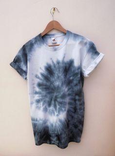 t-shirt tie dye tie-dye shirt white blue cool tumblr fruit of the loom grunge awesome dip dye rolled sleeves tie die whites indie