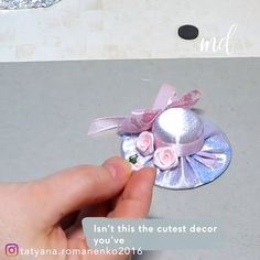 Best 12 How to make cute DIY mini hats! By: Needlework and beads from Tatiana Diy Crafts Hacks, Diy Home Crafts, Diy Arts And Crafts, Crafts To Make, Crafts For Kids, Ribbon Crafts, Flower Crafts, Diy Flowers, Fabric Flowers