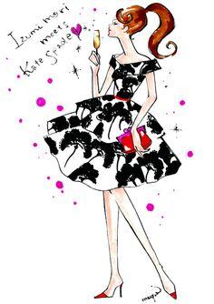 kate spade NY Illustration by mayumi http://blog.talk.vogue.co.jp/mayumi/archives/3292559.html