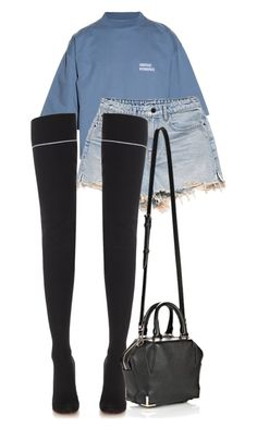 """Untitled #606"" by zaraoutfits ❤ liked on Polyvore featuring Vetements and Alexander Wang"