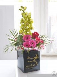 Orchid, Germini and Red Rose Hand-tied with Chocolate Truffles Dublin, Anniversary Flowers, Flowers Delivered, Send Flowers, Chocolate Truffles, Red Roses, Orchids, Beautiful Flowers, Floral Arrangements