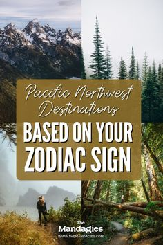 Love astrology and love traveling? You're going to love this post, because we're sharing the best PNW destinations to see, based on your sun sign! We'll tell you how you travel best, and the places to see that will make your inner self one with nature! #zodiacsign #astrology #PNW #PacificNorthwest #travel #travelinspiration Love Astrology, One With Nature, Sun Sign, Pacific Northwest, North West, Places To See, Zodiac Signs, Travel Inspiration, Traveling By Yourself