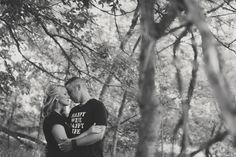 Aimee + Sean's Woodsy Southern Michigan Engagement Session