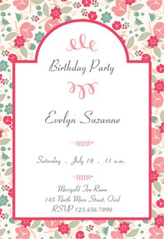 Fun floral printable invitation template customize add text and purple petals party printable invitation template customize add text and photos stopboris Gallery