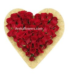 SPECIAL HEART FOR SWEET HEART Heart shape arrangement of premium 36 red roses. Free message card