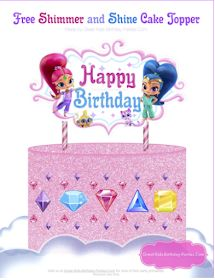 It's Shimmer and Shine Party Time! Have a glitter-tastic birthday party with these adorable twin genies! Let Shimmer and Shine bring glittery sparkle to your party with our awesome party printables! Shimmer And Shine Decorations, Shimmer And Shine Cake, Diy Cake Topper, Birthday Cake Toppers, Twin Birthday, Happy Birthday, Birthday Signs, Glitter Party, 4th Birthday Parties