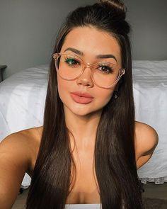 2020 Women Glasses Clear Eyeglass Frames Makeup Glasses Frame Without Lens - 2020 Women Glasses Clear Eyeglass Frames Makeup Glasses Frame Without – ooshoop - Glasses For Round Faces, New Glasses, Makeup For Glasses, Glasses Online, Frames For Round Faces, Glasses Outfit, Fashion Eye Glasses, Wearing Glasses, Glasses Frames Trendy