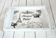 Dreams Factory: Vintage French wooden trays - Tavite vintage ~ French Made ~ Decor Crafts, Wood Crafts, Diy Crafts, Shabby Vintage, French Vintage, Painted Trays, Wooden Trays, Ikea Hackers, Chalk Paint Furniture