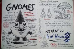 Gravity Falls Journal 3 Replica - Gnomes page by leoflynn on @DeviantArt