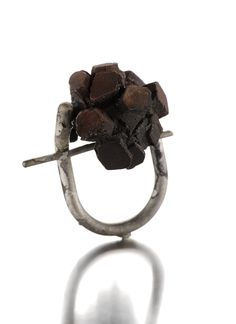 """""""Forza"""" / ring / silver and shibuichi ( japanese alloy of silver and copper) / 2011 / unique piece."""